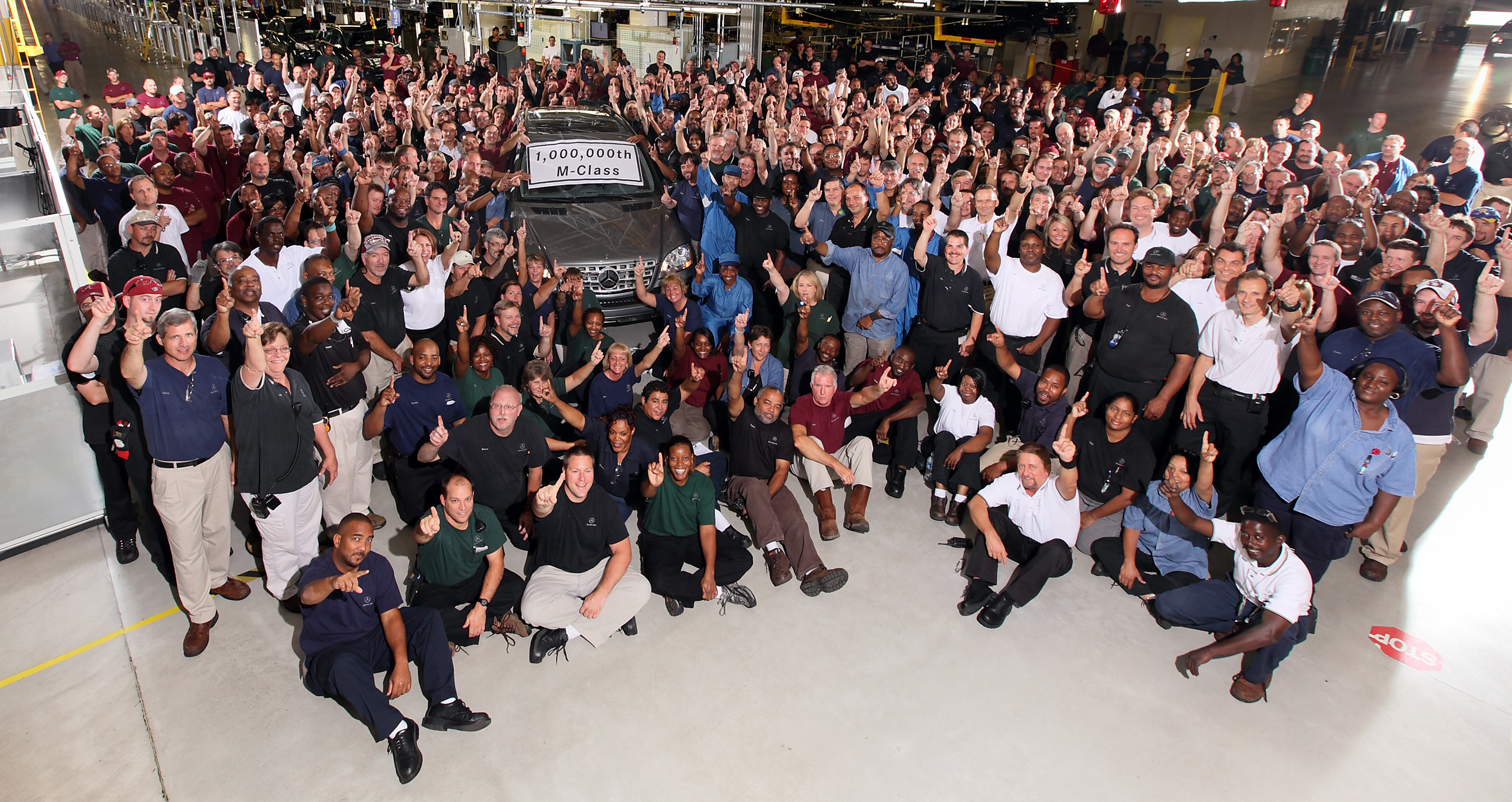 History alabama auto production races past 10 million mark for Mercedes benz manufacturing plant in usa