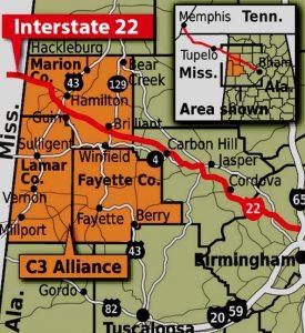 I-22 Map