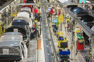 Corollas move down the assembly line at Toyota's Blue Springs, Mississippi, plant. (Image: Toyota)