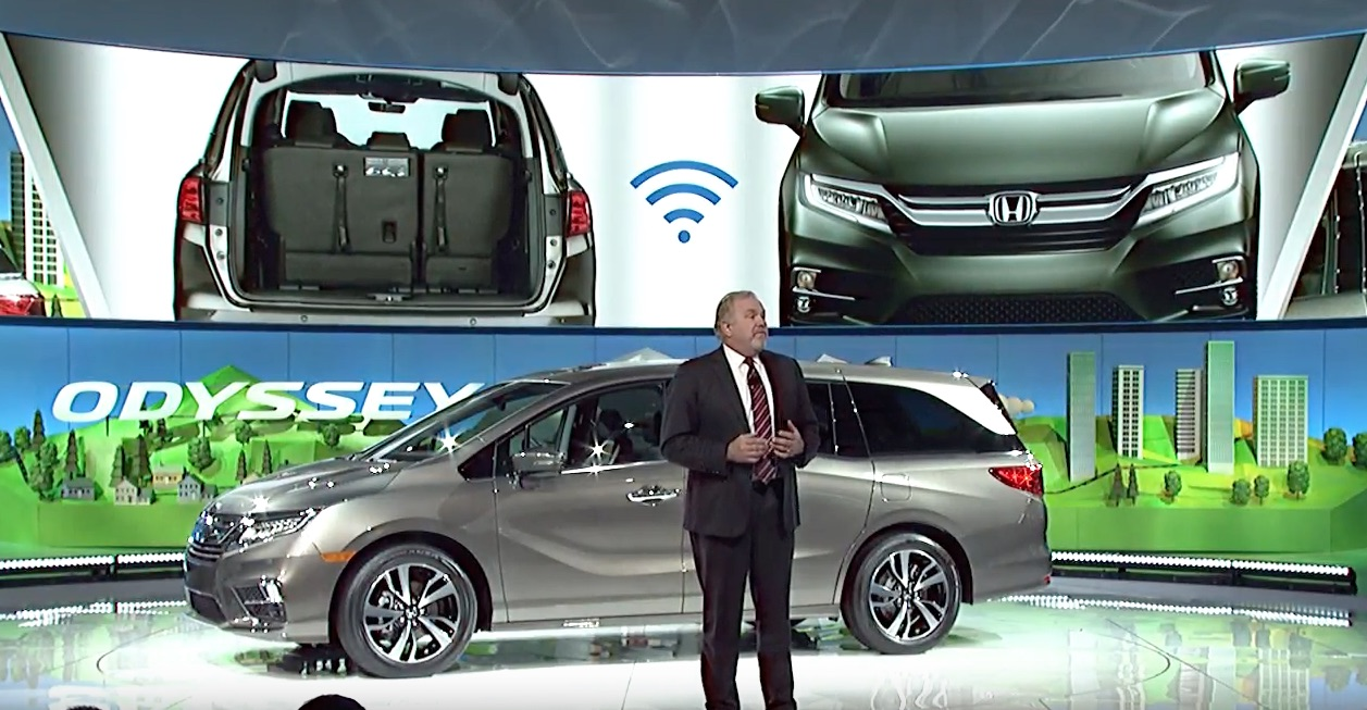 Hondas Redesigned Alabama Made Odyssey Takes Center Stage At Detroit Auto Show