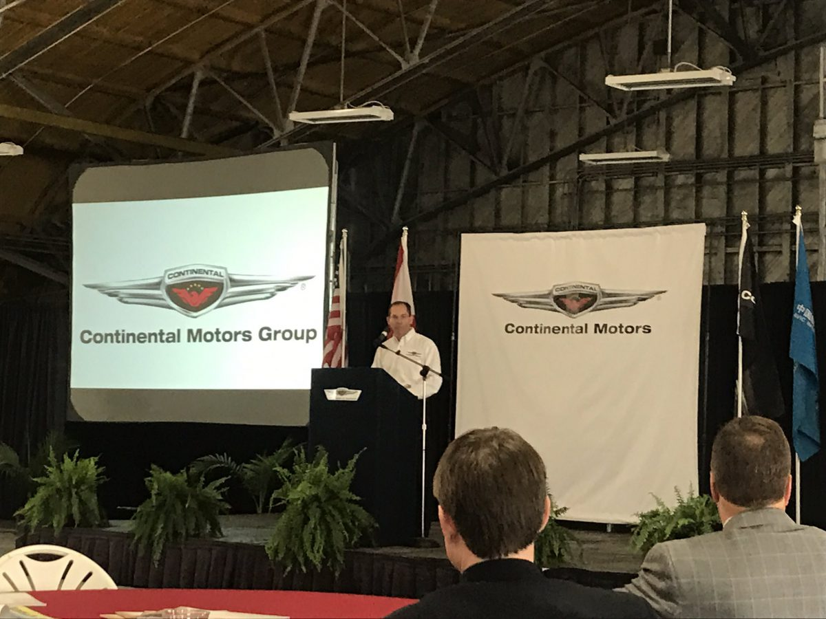 Continental Motors to build new Alabama manufacturing center