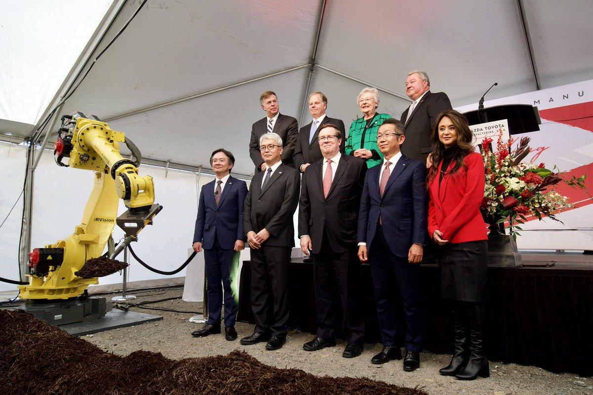 Mazda Toyota partnership kicks off construction on $1.6B ...